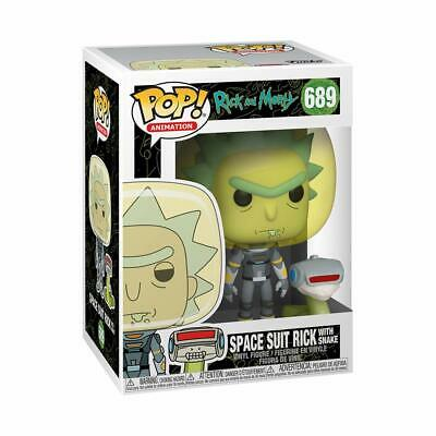 Funko Pop! Animation: Rick and Morty - Space Suit Rick w/ Snake Vinyl Figure