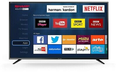 "Sharp 40"" LED Smart TV Full HD 1080p With Freeview HD + Netflix & PVR"