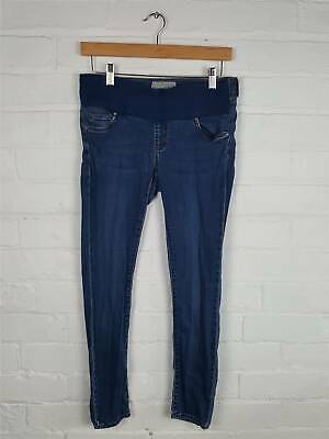 Topshop Moto Mid Wash Maternity Jeans Size UK 10 L30