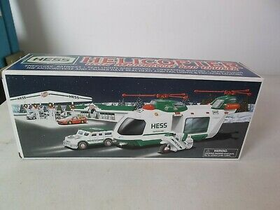 HESS 2001 HELICOPTER WITH MOTORCYCLE AND CRUISER New in Box