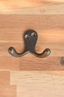 A Classic Victorian Antique Style Double Coat Hook Cast Iron Hook R9
