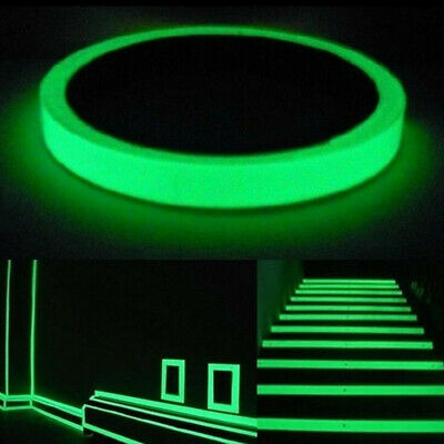 x 147 ft Glow in the Dark Tape Stage Safety Warning Home Decor 3//4 in Green
