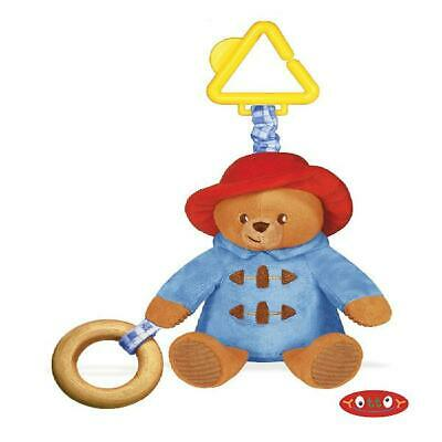 """Yottoy Paddington Bear for Baby 8.5"""" Attachable Stroller Rattle Toy"""