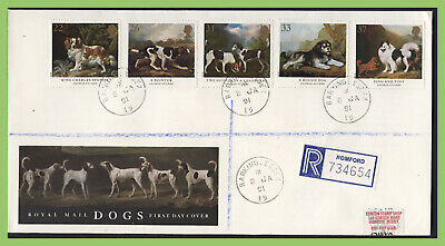 G.B. 1991 Dogs set on Royal Mail First Day Cover, Barking Essex cds