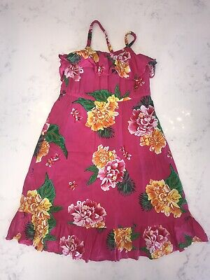 Old Navy Girls Pink Tropical Floral Maxi Dress Size 5T