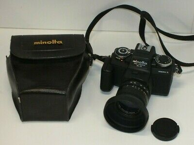 Minolta 110 Zoom SLR Mark II (110 Film) Mini SLR Camera and Original Case