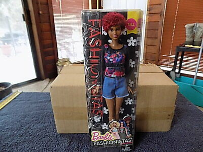 Mattel Barbie Fashionistas Doll~Fab Fringe 33~Tall~ African American.DPX69 DGY54