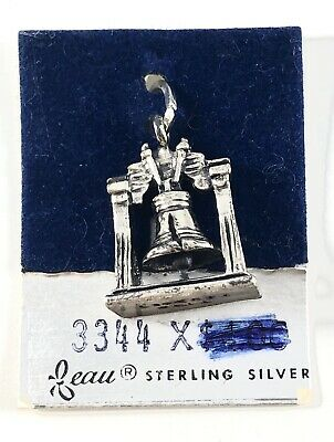 Vintage Beau Sterling Silver Liberty Bell Charm Brand New Old Stock Org. Package