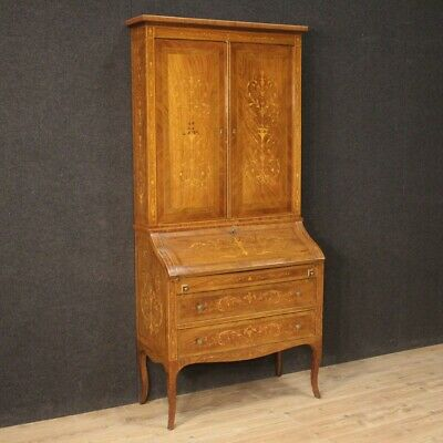 Trumeau Secretary Desk Furniture Fore Wooden Inlaid Antique Style Louis XVI 900