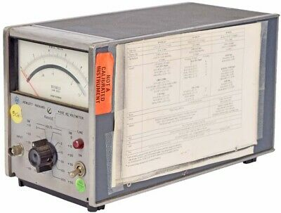 Hp Agilent 400E Hewlett Packard Industrial Variable Analog AC Voltmeter Unit