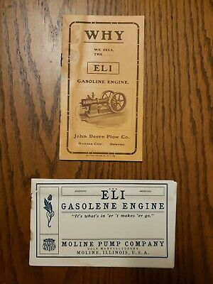 Eli Gasoline Engine Moline Pump Company Catalogs Original