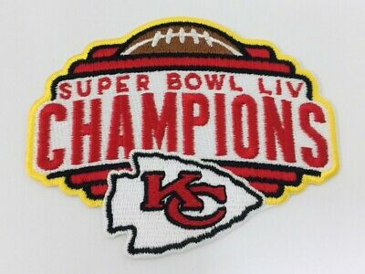 "Kansas City Chiefs Embroidered 4"" Patch iron on Super Bowl LIV Champ NFL Mahomes"