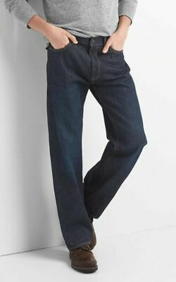 GAP Jeans in Relaxed Fit, Dark Resin, Men's Size 34 x 32 NEW