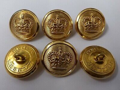 Genuine British Military Issue Dress Buttons Sovereign Crown Insignia Buttons