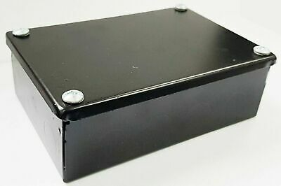 Nexus Black Metal Adaptable Steel Electrical Enclosure Knockouts 150 100 50 mm