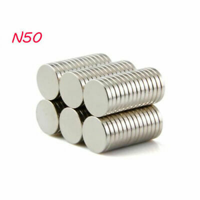 N 50 10mm x 1mm Rare Earth Strong Magnet Disc Round Cylinder Neodymium