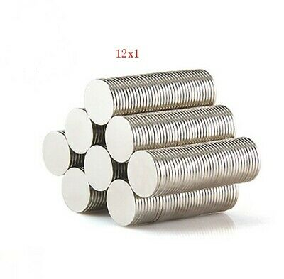 N 50 12mm x 1mm Rare Earth Strong Magnet Disc Round Cylinder Neodymium
