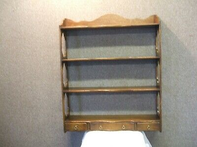 Petite / Solid Oak Serpentine Delft Wall Rack By Gwilym Price Sons & Daughters