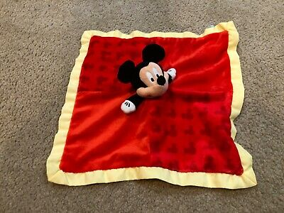 MICKEY MOUSE Disney Baby Plush Lovey Security Snuggle Blanket Kids Preferred