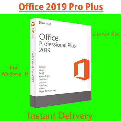 Office 2019 Pro Plus Instant Genuine License Key Office 2019 Professional Plus