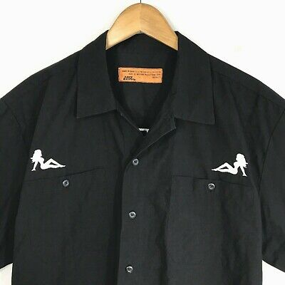 NEW NWT DICKIES Embroidered SILHOUETTE PIN UP GIRL TRUCKER WORK SHIRT Mens XXL