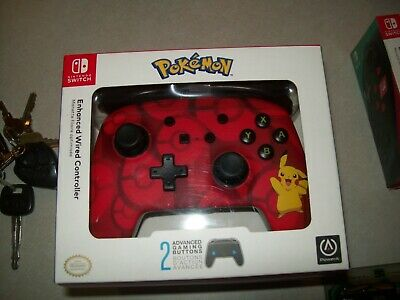 Pokemon Pikachu PowerA Enhanced Wired Controller Nintendo Switch NEW