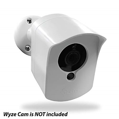Mounting Kit for Wyze Cam 1 pcs White - Outdoor Case for Wyze Camera & v2 1080p