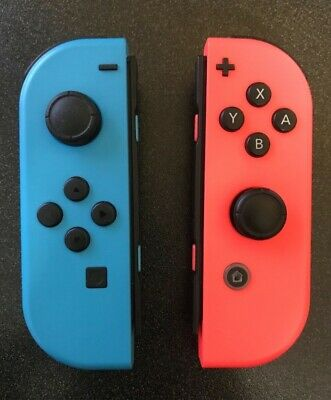 Nintendo Switch Joy-Con Neon Blue/Neon Red Controller Set (L/R) Genuine - AS IS