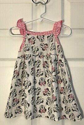 Disney Baby Girls Dress Minnie Mouse White Pink 24 Months