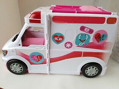 Barbie Ambulance Care Clinic 2-in-1 Fun Role Play Set For Girls 2013