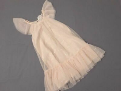 NWT H&M girls powder beige tulle dress Easter Wedding Picture size  6 7 8 9 NEW