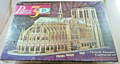 PUZZ3D NOTRE DAME CATHEDRAL 3D Puzzle 952 pcs NEW from 1996