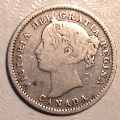 1899 Canada VIctoria 10 Cents - Large 9's