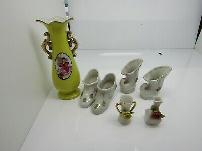 Set Of 7 Victorian Porcelain Figurines Made In Occupied Japan.  MT85