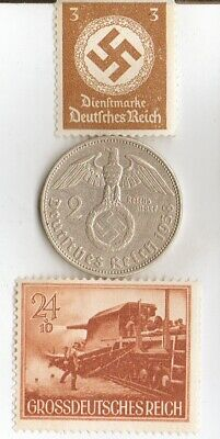 "*Large Collection of WW2-*us/*german-coins/Stamps of ""Big BIRTA""-Rail Artillery"