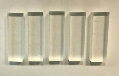 Clear Acrylic Stamp Blocks 50mm long x 15mm wide x 10mm thick pack of 5