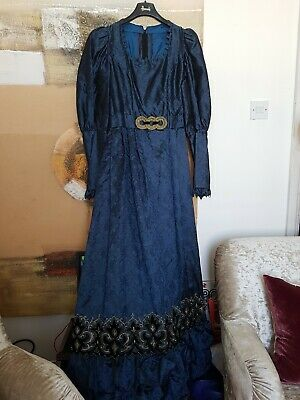 Theatre Dress Royal Costume Victorian Edwardian Performans Ball Medieval Gothic