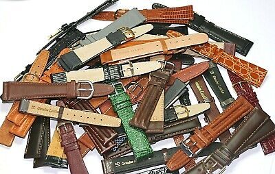 43 X Genuine Leather Watch Straps Job Lot Wholesale 12-20Mm Retail Value £300.57