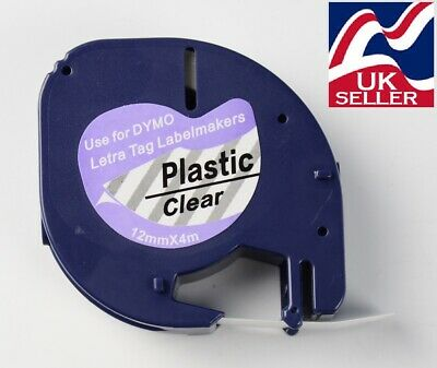plastic tape cartridge 12267 clear 12mm x 4m for DYMO LETRATAG labellers
