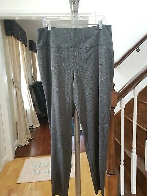 Apt 9 Women Plus Size 1X Midrise Curvy Straight Leg Dress Pants Gray $50