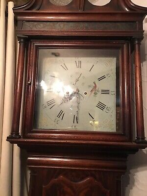 Grandfather Clock Original Very Tall Taller Than Door Working Order Collection