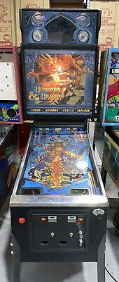 Dungeons & Dragons pinball Machine By Bally 1987 Original Coin Op Free Shipping