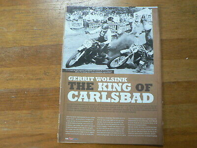 A7112- Mx Motocross Article Gerrit Wolsink The King Of Carlsbad, Decoster,