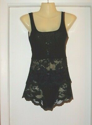 Vtg Victoria's Secret Mesh and Lace PANTIES and Matching Cami Tank Bridal S/M