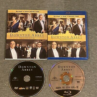 Downton Abbey: The Motion Picture (Blu Ray, DVD, 2019) w/ Slipcover