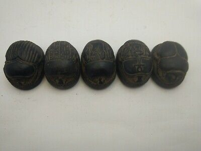 5 RARE ANCIENT EGYPTIAN ANTIQUE SCARAB Blank Stone 1172-1105 BC