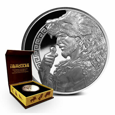 THE 12 LABORS OF HERCULES | 2015 Proof 5 oz .999 Silver Round-ONLY 500 COINS