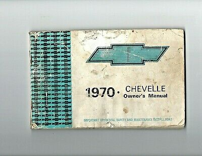 1970 El Camino and Chevelle Owners Manual with Envelope SS Malibu Chevy Guide 70