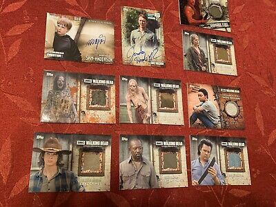 The Walking Dead Auto and Relic Lot of 10 Cards