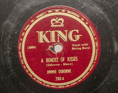 Jimmie Osborne 78 rpm Bundle Of Kisses Shellac Record Country King 1940s Fiscus